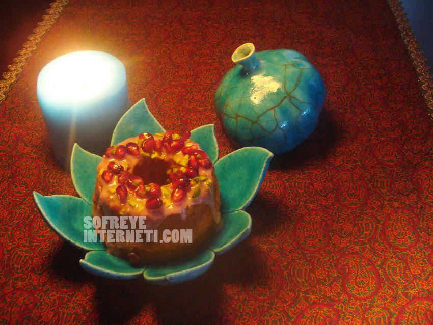 کیک انار؛ روز خُرم؛ شب یلدا