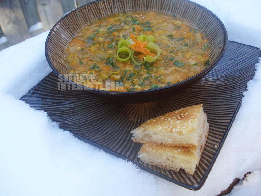 سوپ داغ و برف